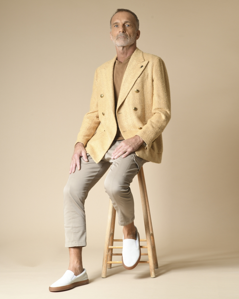 Veste en laine mélangée à motif chevron Gabriele Pasini