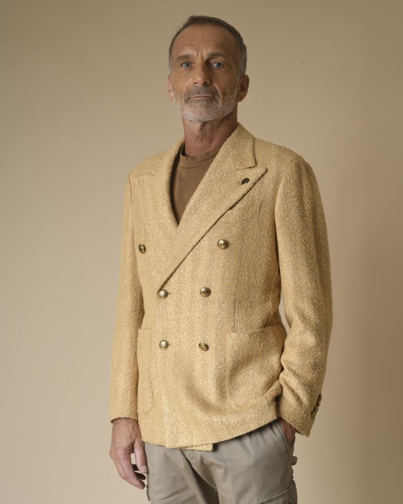 Veste en laine mélangée à...