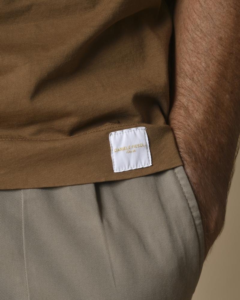 T-shirt col rond en coton Daniele Fiesoli