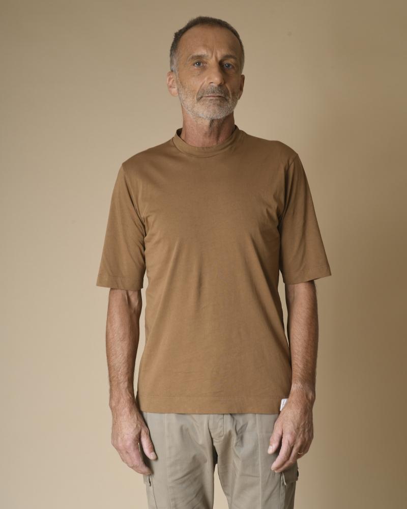 T-shirt col rond en coton...