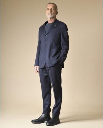 Costume en laine bleu marine Gabriele Pasini