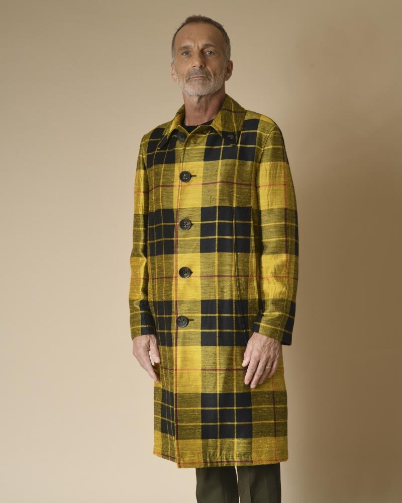 Manteau à carreaux oversize...