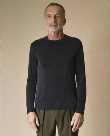 T-shirt manches longues en cupro Daniele Fiesoli