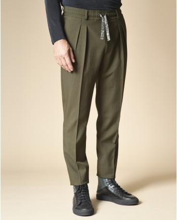 Pantalon en laine mélangée Gabriele Pasini