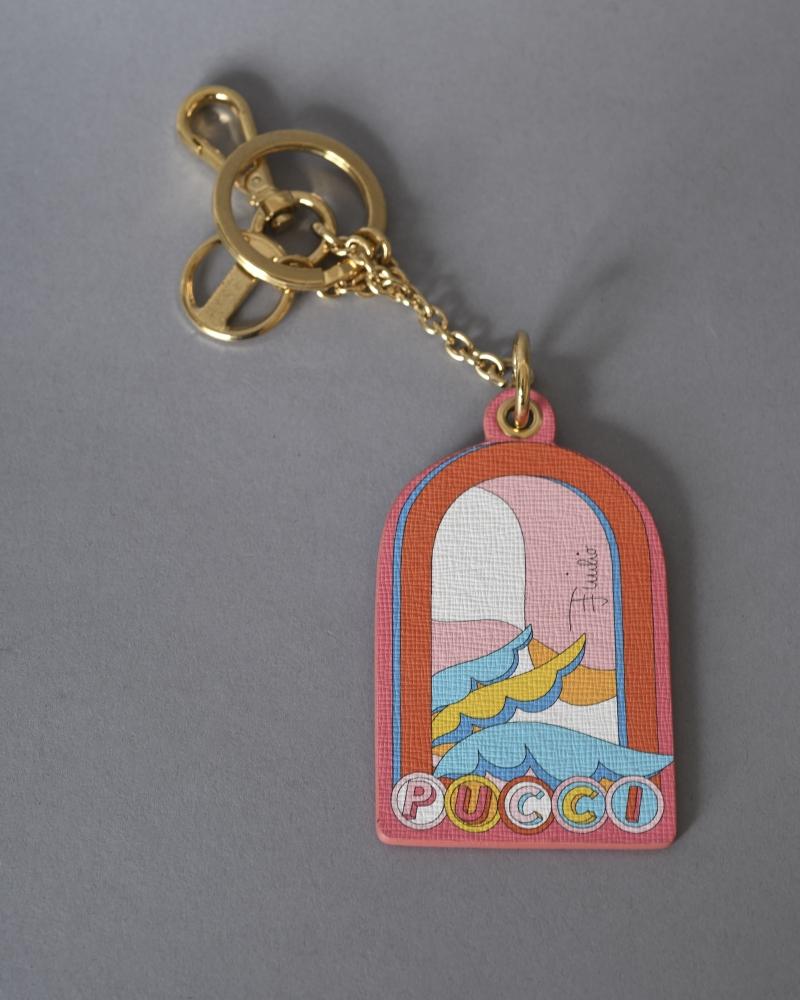 Porte-clés en cuir imprimé...