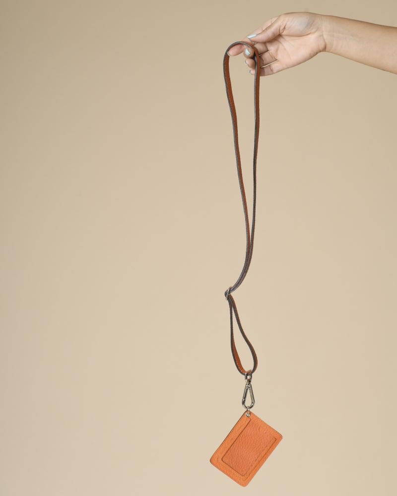 Etiquette bagage en cuir à lanière Carven
