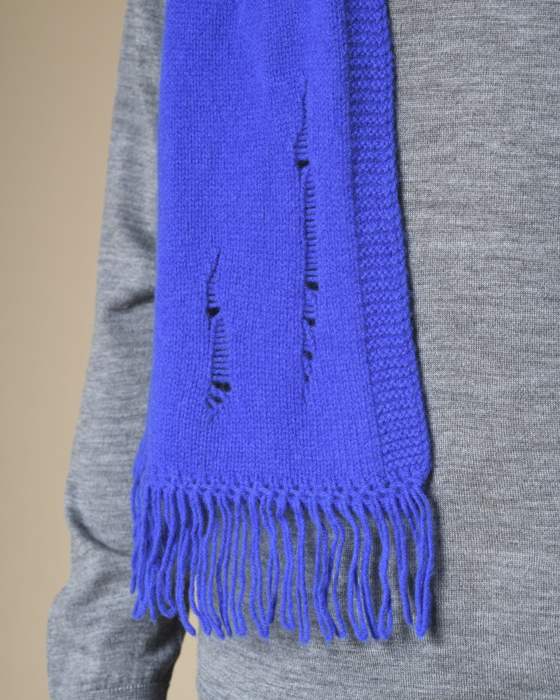 Echarpe en laine et cachemire à trou Daniele Fiesoli