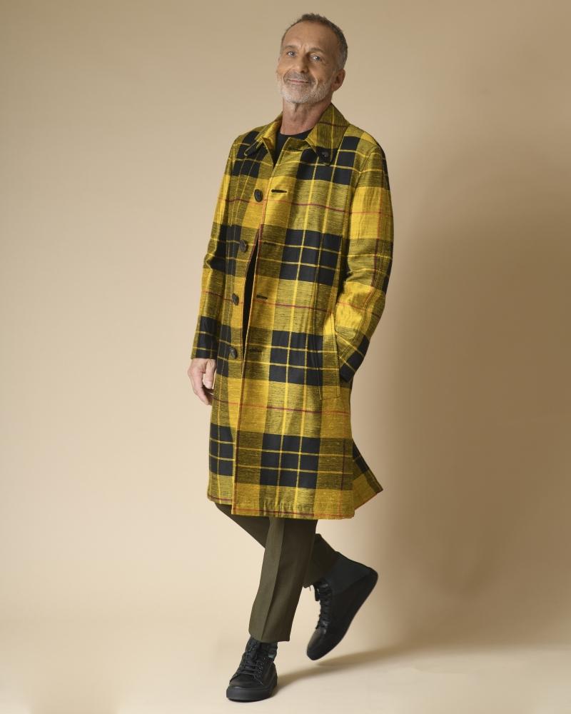 Manteau à carreaux oversize Gabriele Pasini