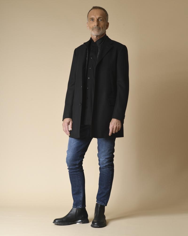 Manteau en laine à empiècement amovible Corneliani