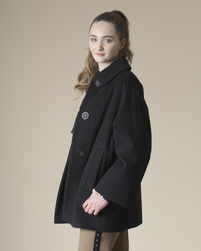 Manteau noir en laine...