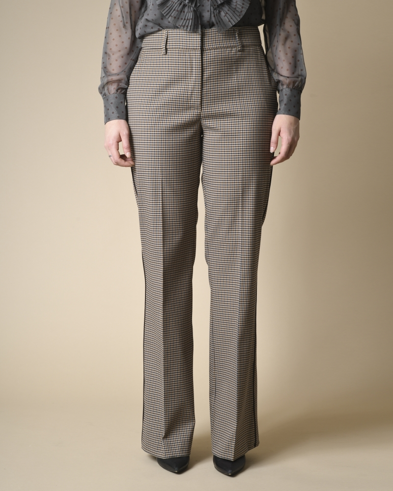 Pantalon évasé à carreaux  P.A.R.O.S.H