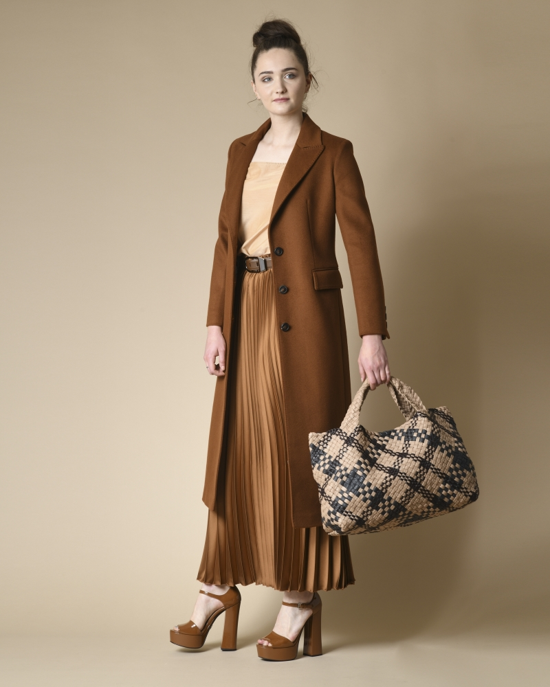Manteau en laine vierge Mouche