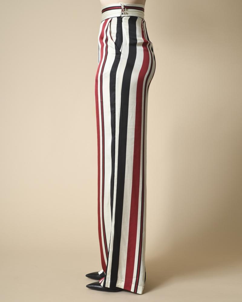 Pantalon large à rayures Space Simona Corsellini