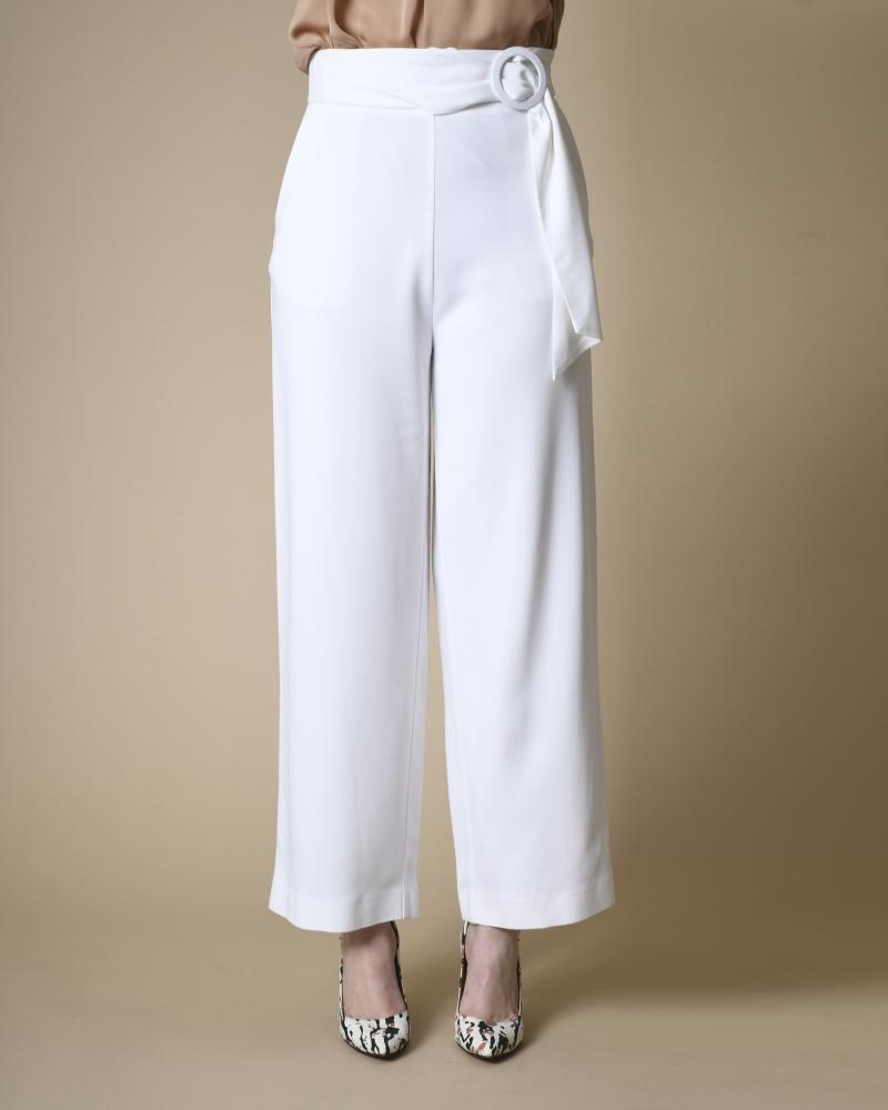 Pantalon tailleur large à...