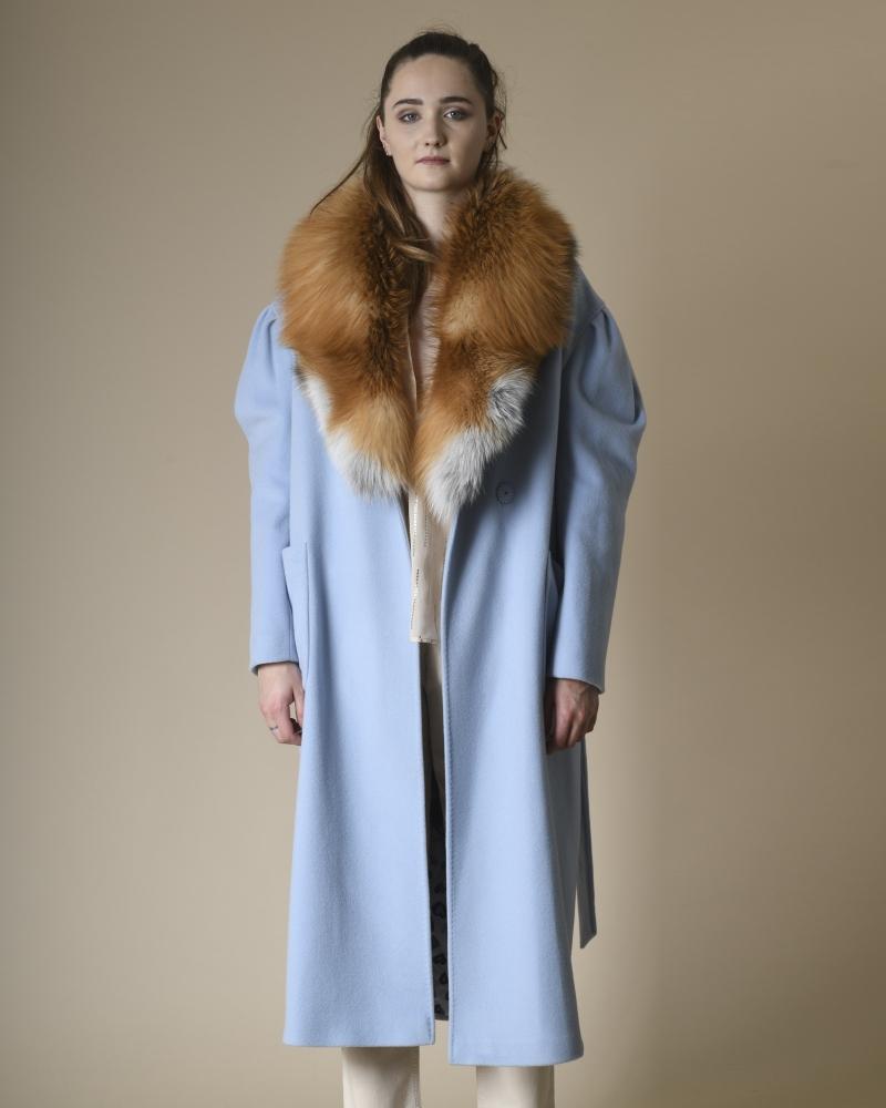 Manteau en laine mélangée à...