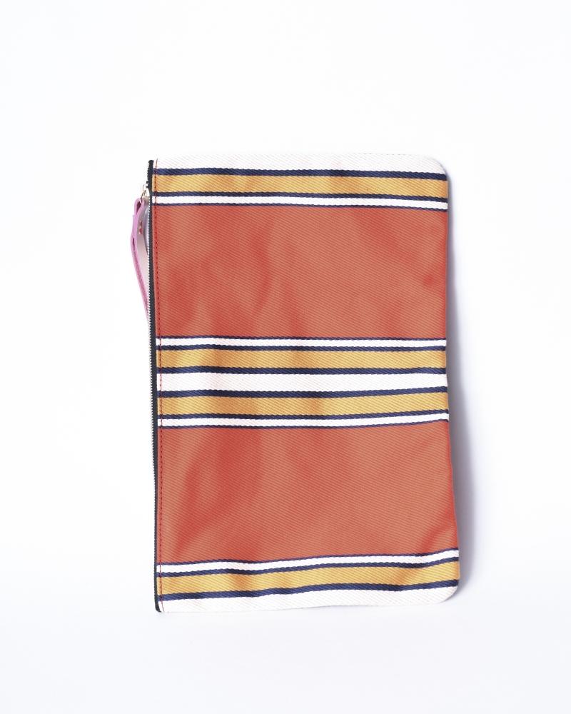 Pochette en tissu à rayures Chloe Stora