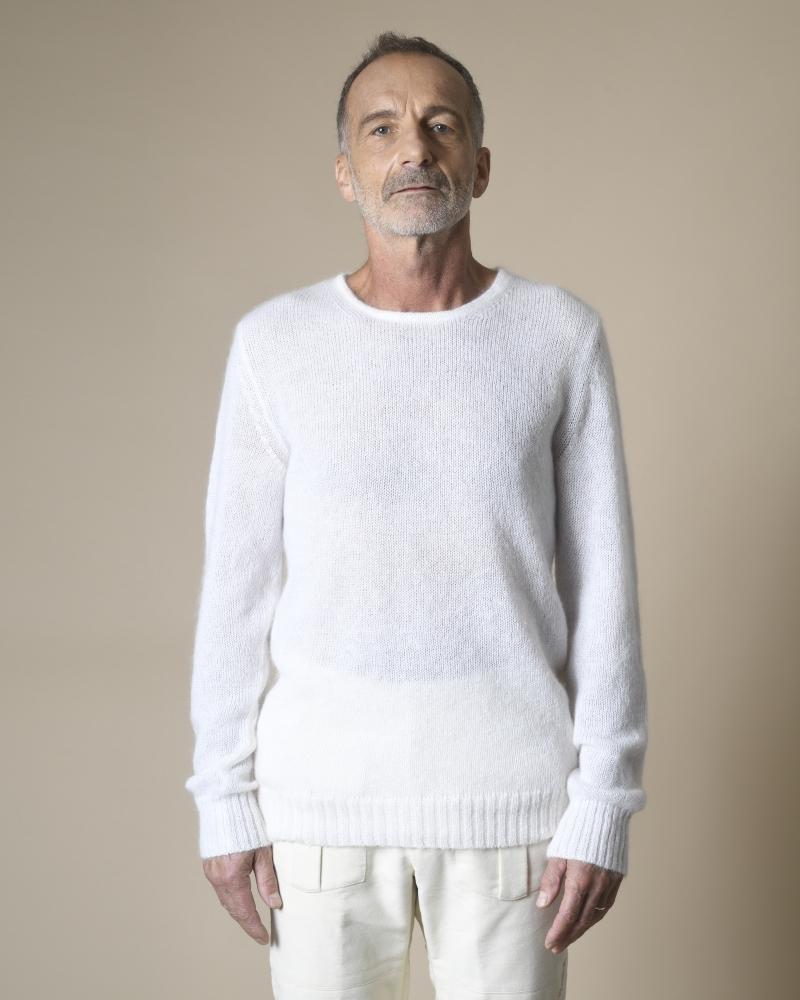 Pull en laine superkid mohair Manostorti