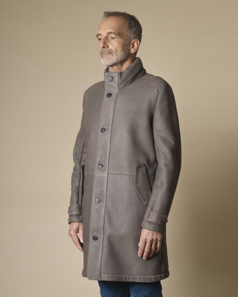 Manteau à capuche en peau lainée Corneliani