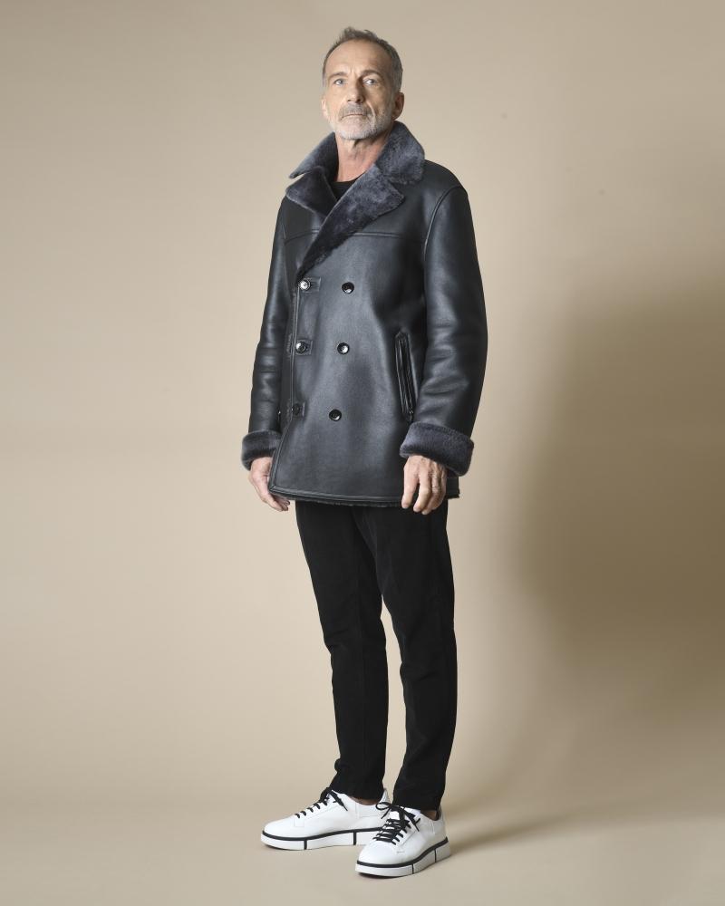 Manteau en peau lainée Manzoni 24