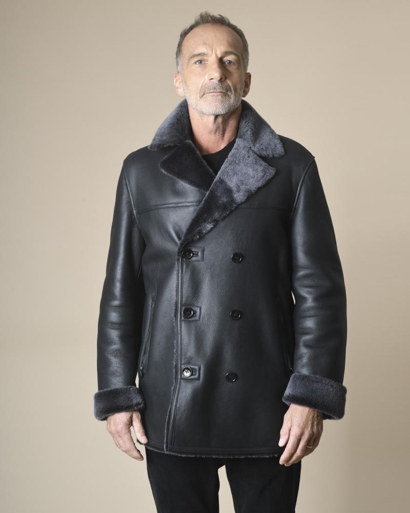 Manteau en peau lainée...