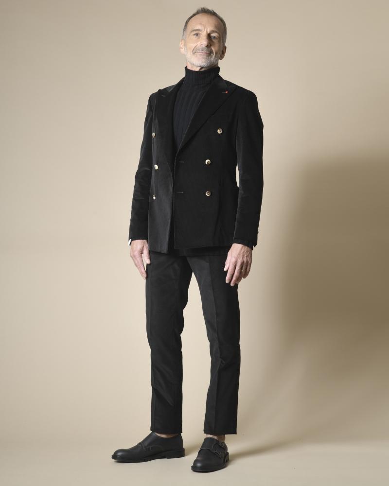 Costume noir en velours...
