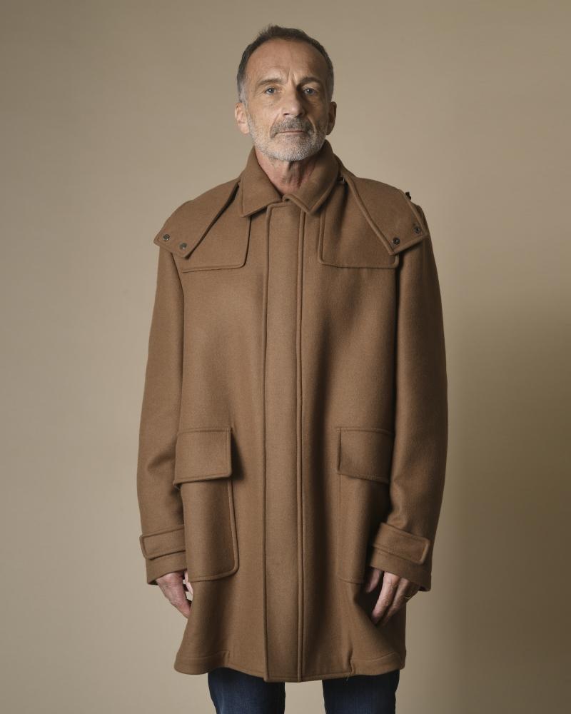Manteau en laine et angora...