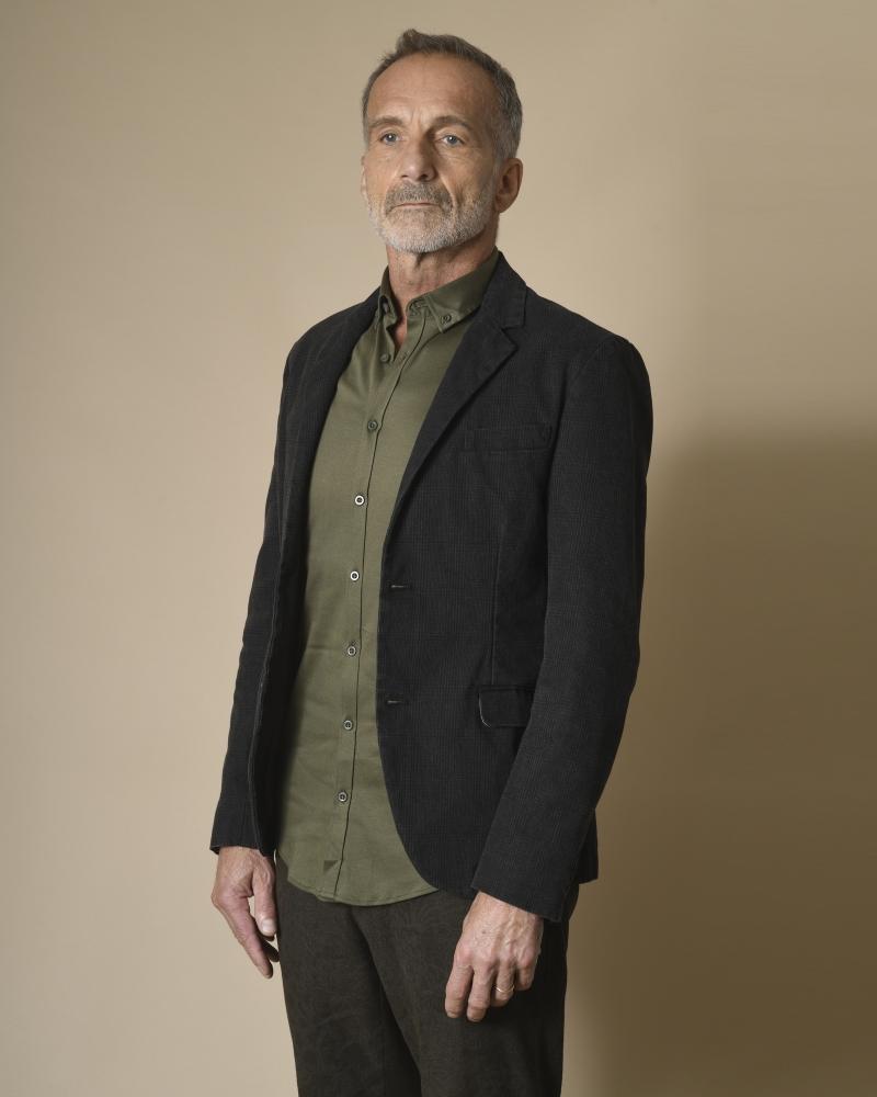Veste en coton à carreaux Gian Carlo Rossi