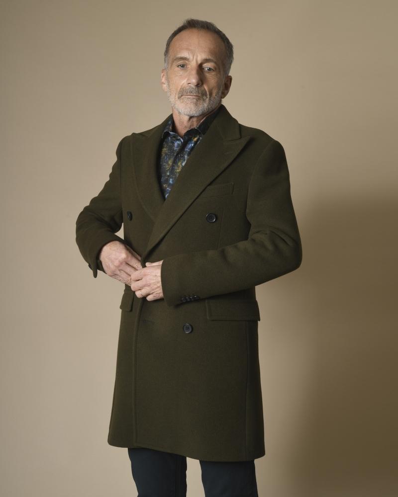 Manteau en laine à double boutonnage Corneliani