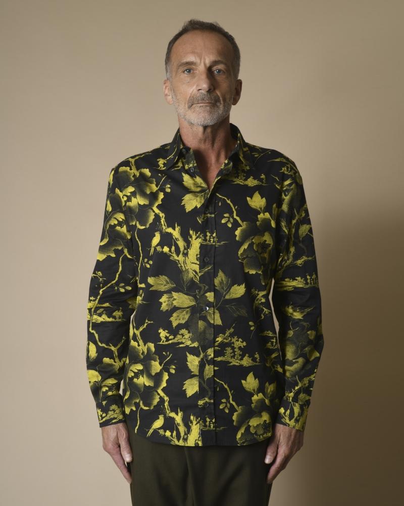 Chemise à imprimé floral Alexander McQueen