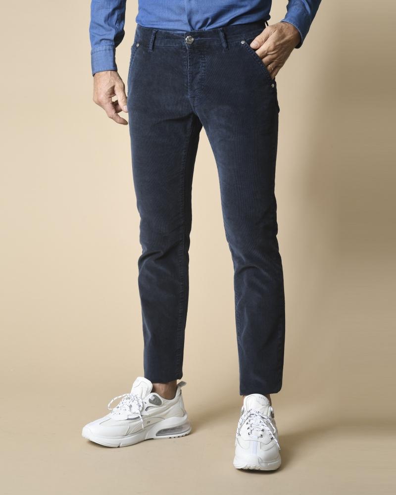 Pantalon bleu en velours...