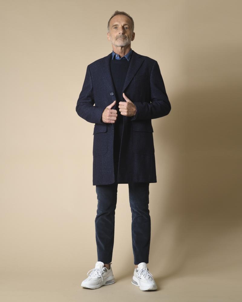 Manteau en laine et soie imprimé Corneliani