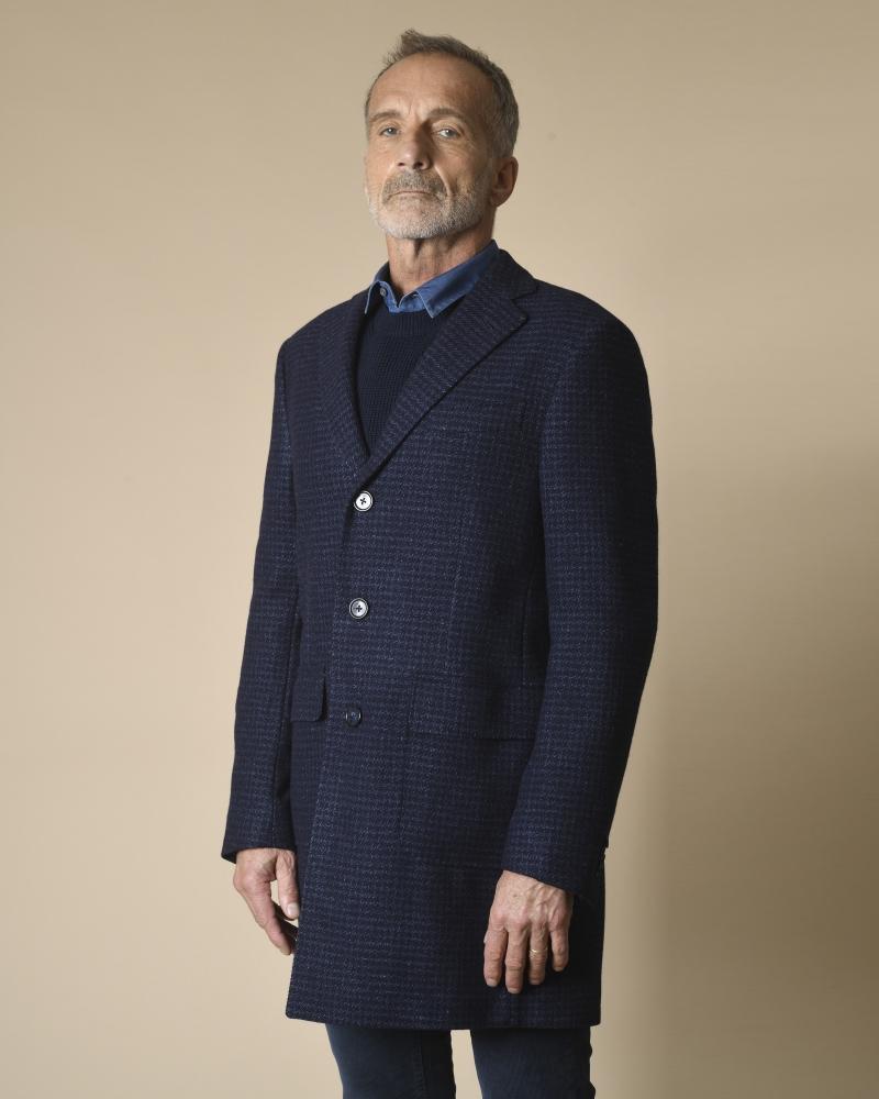 Manteau en laine et soie...