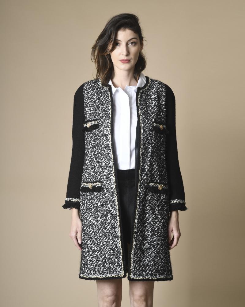 Manteau en tweed à quatre...