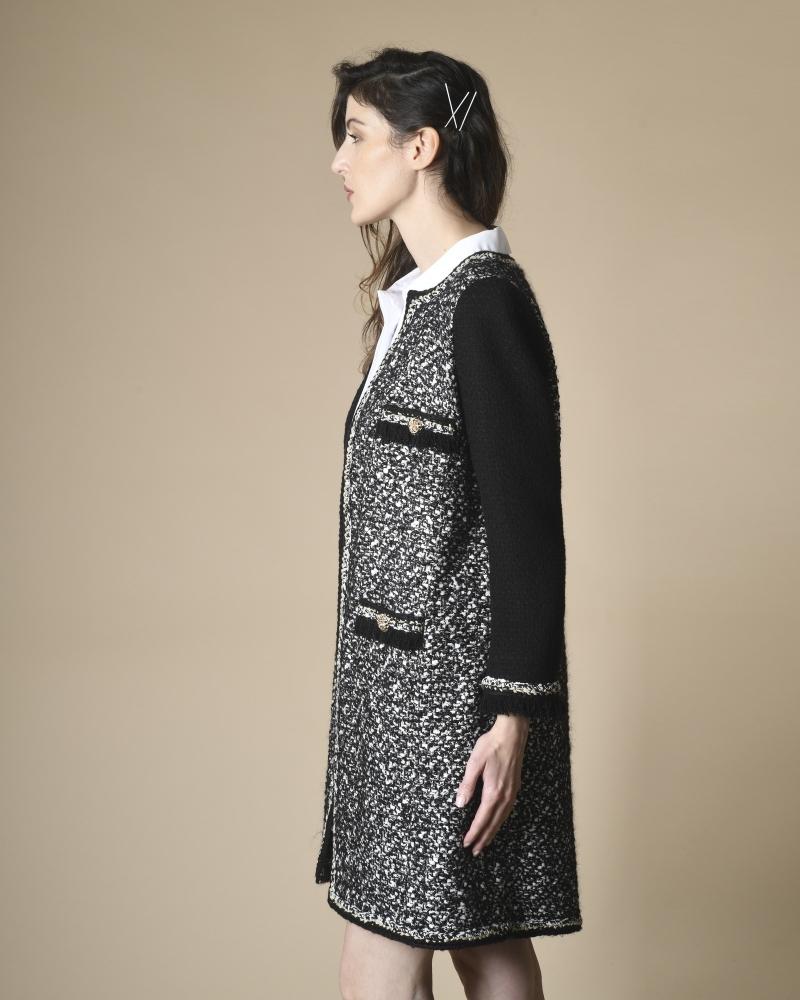 Manteau en tweed à quatre poches Edward Achour