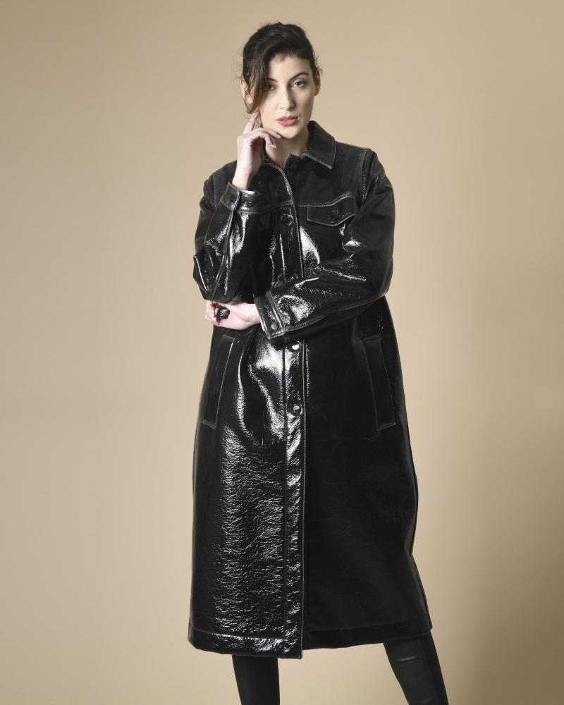 Manteau en vinyle texturé...