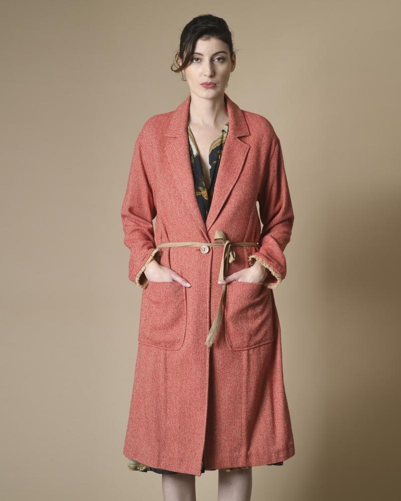 Manteau en coton à motifs...