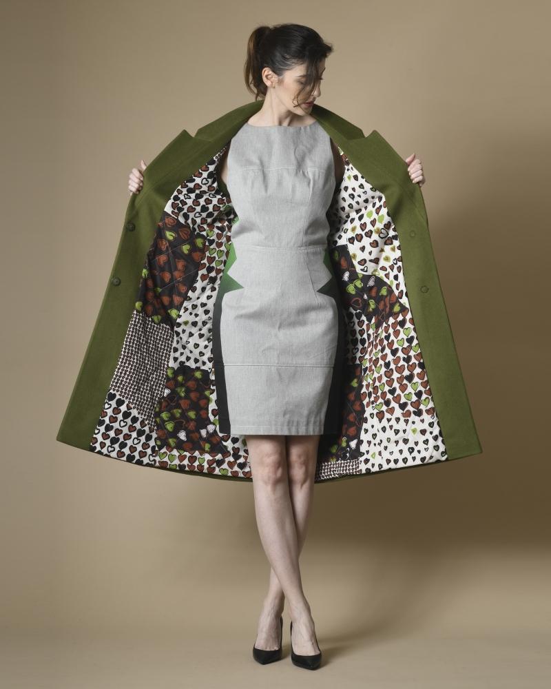 Manteau sans manche en laine et cachemire Mouche