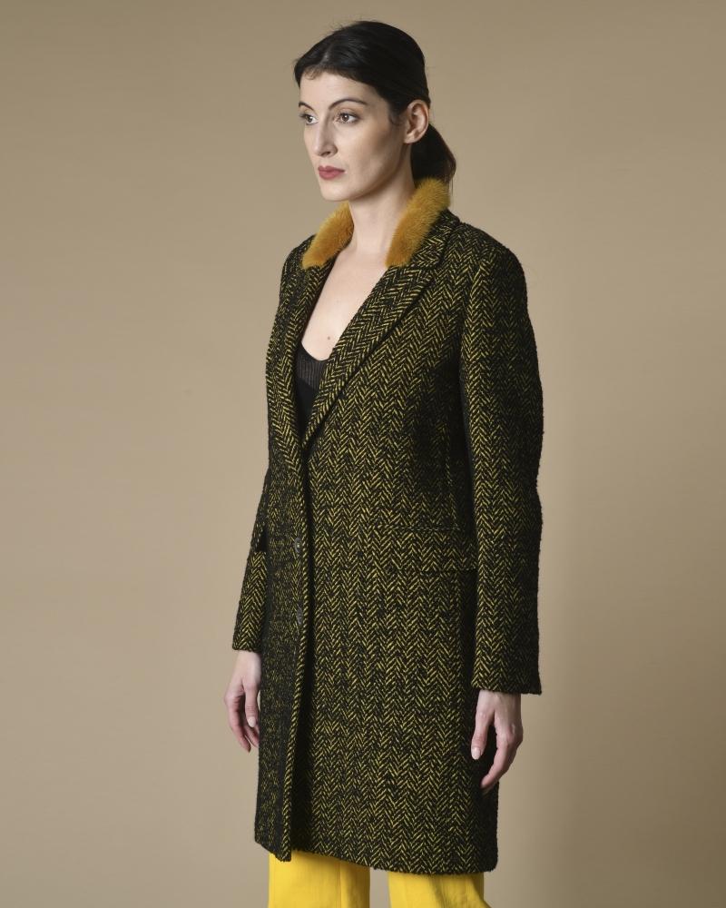 Manteau en coton mélangé à...