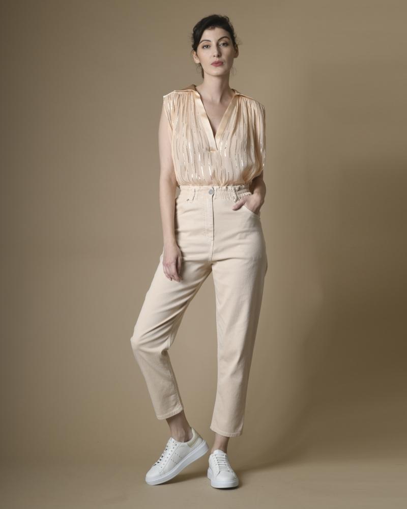 Basket blanche et beige Eleventy